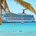 Cruise passengers swimming off Frederiksted Feb. 19. (Tourism Department photo)