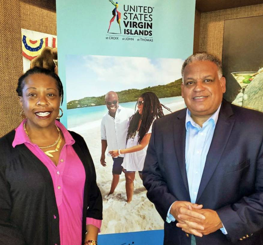 Boschulte with Chicago Sun-Times journalist Maudlyne Ihejirika during his face-to-face meetings in Chicago. (Submitted photo)