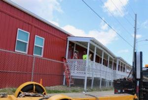 Federally-funded modular units opened at Charles Harwood Medical Complex Thursday. (Linda Morland photo)