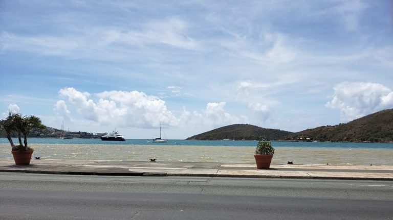 Burst Water Main Injects Sediments Into Charlotte Amalie Harbor