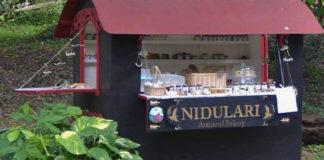 Nidulari Gypsy Food Truck is nestled into the greenery on Mahogany Road. (Photo by Merryn MacDonald)