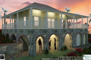 The proposed museum and archive center for the St John Historical Society will be the focus of Sunday's fundraiser. (Image provided by St. John Historical Society)