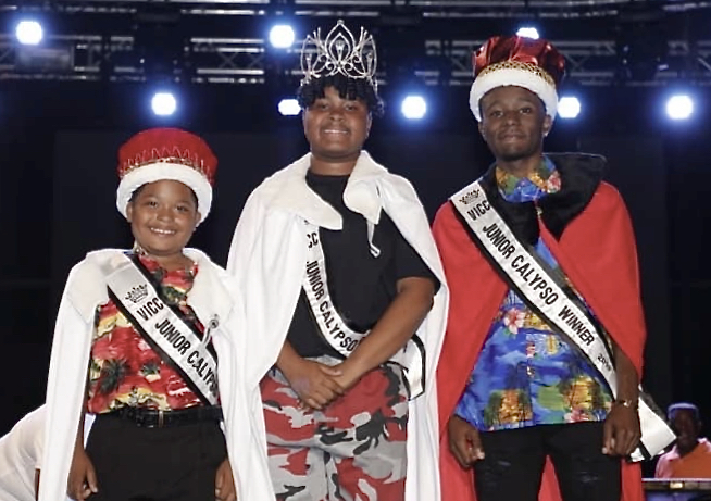 From left, this year's Junior Calypso Competition winners: Jose 'Papa El Santo' Severino, Jr., Brianna 'Lady Kaiso' George and Tymarri 'Mighty Marri' Lee.