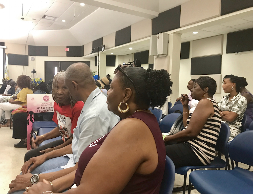 USVI Literary Festival audiencegets involved in the V.I. Studies Collective discussion. (Elisa McKay photo)