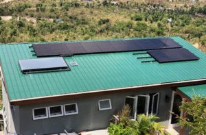 This modest Coral Bay home has 13 solar panels, as well as solar hot water and a Tesla powerwall. Photo provided by Annette Mattiuz)