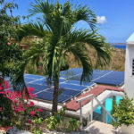 A St. John villa has a full array of solar panels.