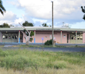 Alexander Henderson Elementary School is one of two on St Croix that is expected to be closed. (File photo)