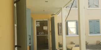 The entrance to the Frederiksted WIC office, hich has been plagued by a foul odor.