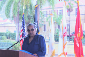 Keynote speaker, Debra Henneman-Smith – 'My fervent prayer is that someday … we do not have cause to have a Memorial Day because there will no more wars.'