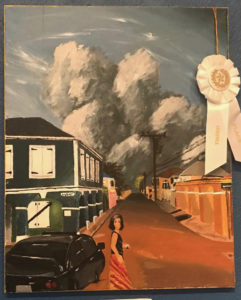 Wylie Crowther took third place with his painting, 'Dulcie at Dusk.' (Elisa McKay photo)