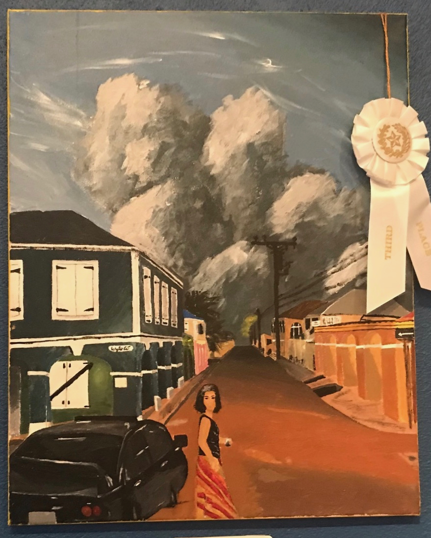 Wylie Crowder took third place with his painting, 'Dulcie at Dusk.' (Elisa McKay photo)