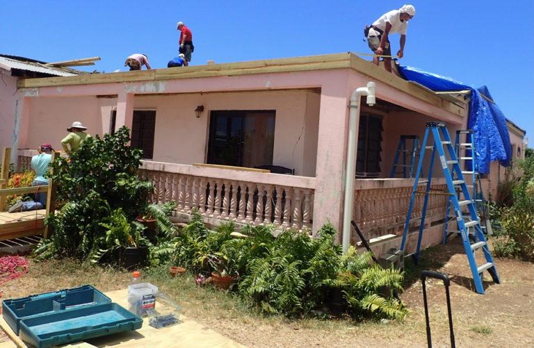 Volunteers Help Rebuild St. Croix Roofs
