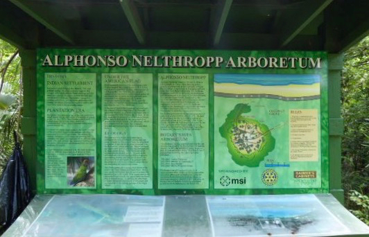 The Nelthropp kiosk is remarkably undamaged by hurricanes. (sap photo)