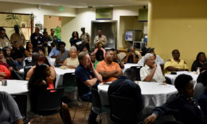 Family members and friends filled the Limetree Bay cafeteria Monday to support 35 graduates of the company's first Basic Operator Training Class. (Source photo by Wyndi Ambrose)
