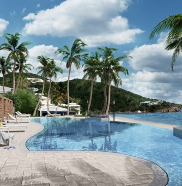 Artist's rendering of a pool planned for the renovations of St. Thomas' Frenchman's Reef resort. (Image submitted by DiamondRock Hospitality Company)