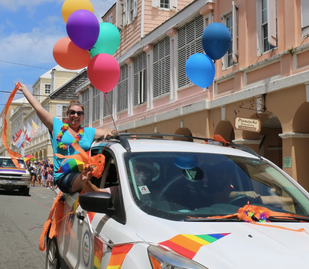 Color and smiles were the order of the day as the 2019 St. Croix Pride Parade came through the streets of Christiansted. (Linda Morland photo)