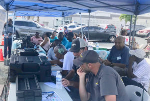 Amateur radio operators try to establish connections with other amateur radio operators across North America.