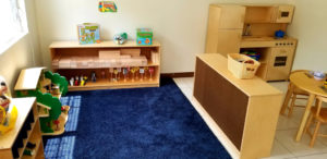 The childcare facility has many rooms supporting educational development. This room, filled with dolls and blocks, highlight themes of engineering and sociodramatic play. (Source photo by Bethaney Lee)