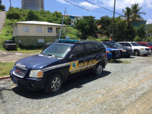 The V.I. Police Department also received notice that its broken vehicles must be removed, according to VIPA officials. (Source photo by Amy Roberts)