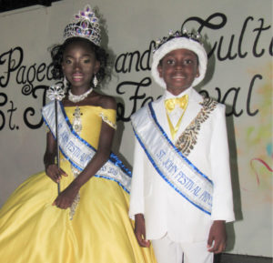 Newly crowned 2019 St. John Festival Prince and Princess Lemuel Liburd III and Elizabeth Farrell.