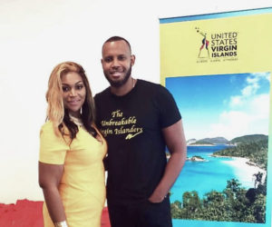 """U.S. Virgin Islands Assistant Commissioner of Tourism Elizabeth Hansen Watley with journalist and filmmaker Peter Bailey in Charleston, South Carolina for presentation of Bailey's documentary, """"The Unbreakable Virgin Islanders."""" (Photo by Department of Tourism)"""