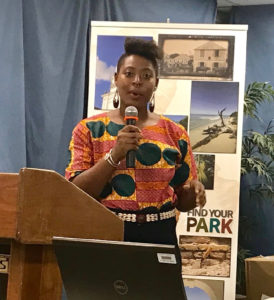 Ayana Flewellen of the Society of Black Archaeologists (Source photo by Elisa McKay)