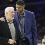 Tim Duncan with Sputs head coach Gregg Popovich. (Photo from Complex.com)