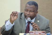 Sen Athneil 'Bobby Thomas (Photo by Barry Leerdam for the V.I. Legislature)