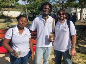 St. Jan Co. executive board members Dr. Hadiya Sewer, Kurt G. Marsh Jr., and David Knight Jr.