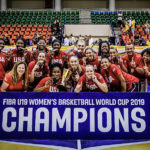 Team USA Poses with their Gold Medals after capturing Gold in the FIBA u-19 Women's World Cup in Thailand.