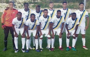 The starting side for the USVI in its match Sunday against Barbados. (Source photo by Kyle Murphy)