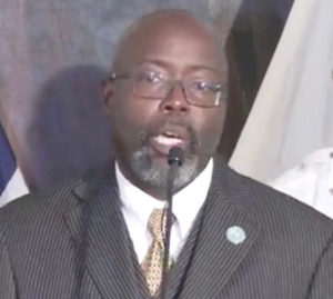 Police Commissioner-designee Trevor Velinor tells Monday news conference the VIPD is 'stepping up.' (Image captured from the V.I. Government's livestream of the press conference)