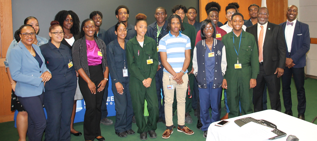 Limetree Bay interns celebrate Friday for completing their summer training program. (Photo by Limetree Bay Terminals)