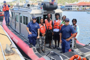 Marine Apprenticeship Program participants spent a day training with the U.S. Coast Guard during the five-week course. (Photos provided by V.I. Professional Charter Association)