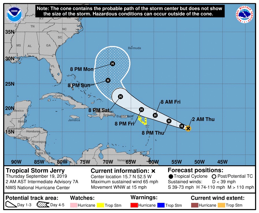 Hurricane Humberto closest on Thursday morning