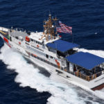 Coast Guard Cutter Donald Horsley conducts sea trials off the coast of Key West, Florida in 2016. In 2017 Horsley was one of many ships that brought relief supplies to the U.S. Virgin islands after Hurricanes Irma and Maria. On Sept. 25 the cutter captured 11 suspected drug smugglers from Venezuela and 55 kilgrams of cocaine. (U.S. Coast Guard photo by Eric D. Woodall)