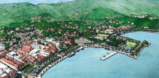 An artist's drawing represents the private sector envsisioned by Charlotte Amalie stakeholders in the designing of the Veterans Drive Improvement Project rendered an image of what the town could look like once plans are completed. (Photo from Facebook page of Dover, Kohl and Partners)
