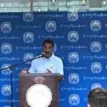 Athletic Director Wilberto Ramos address audience during UVI's first media day. (Submitted photo)