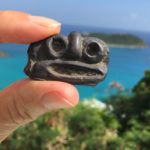 A replica of an ancient Taino artifact found on St. John. (Source photo by Amy Roberts)