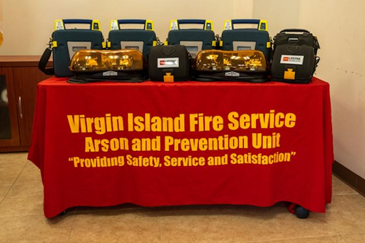 Post-Storm Recovery Contractor AECOM Donates Defibrillators