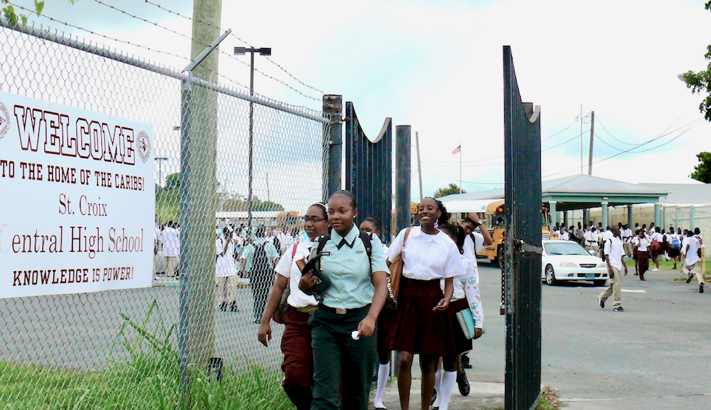 In this 2011 photo, Central High students leave school early after a mysterious odor caused classes to be canceled. (Source file photo)
