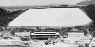 St. Thomas' first power plant under construction, long before the creation of the Water and Power Authority in 1964. (Undated early 20th century photo provided by the St. Thomas Historical Trust)