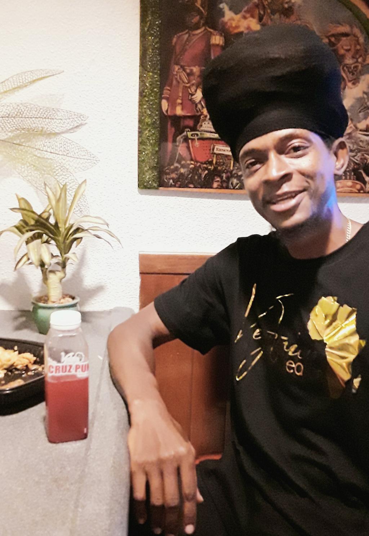 Regular patron Yahumba says Schrader's food is 'Amazing.' (Source photo by Darshania Domingo)