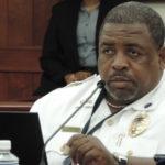 Acting Deputy Chief of Police Operations David Cannonier testifies Monday on two traffic bills. (V.I. Legislature photo)