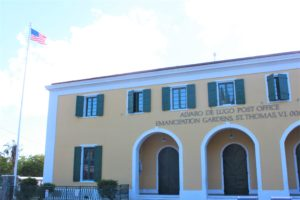 Alvaro De Lugo Post Office located on Main Street in St. Thomas. (Source file photo by Bethaney Lee)