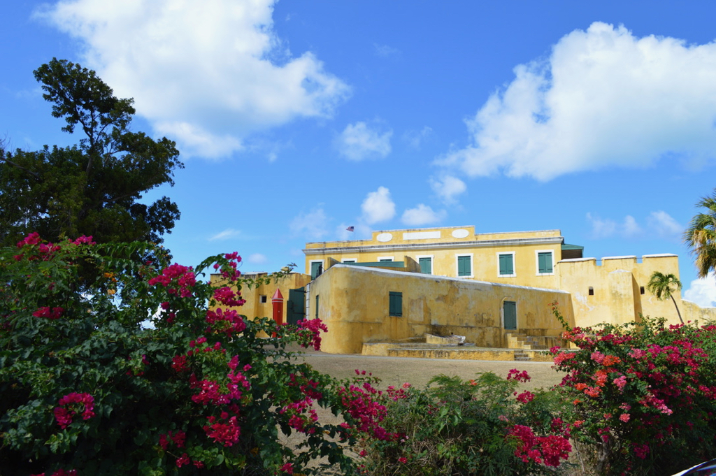 Fort Christiansvaern stands guard over Christiansted Harbor. (Source photo by Bill Kossler)