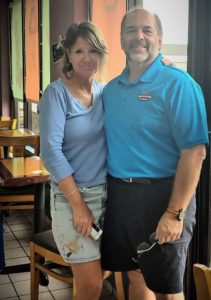 Laura and Frank Leone, owners of Cafe de la Creme at Sunny Isle Mall on St. Croix. (Sour photo by Denise Lenhardt-Benoit)