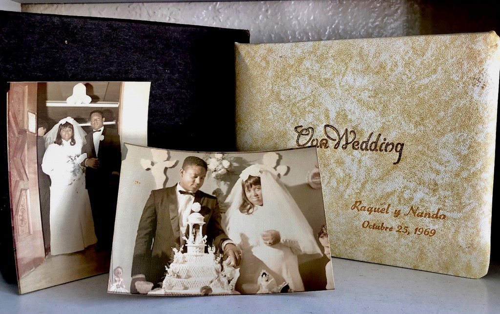 The first wedding album shot by Betsy Beretta of The Snap Shop was on Oct. 25, 1969, when Raquel and Nando Sanes were married in Savan. (Source photo by Teddi Davis)