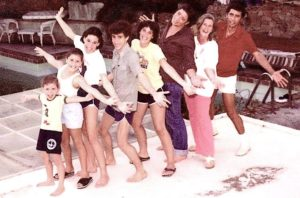 This 1981 family photo captures, from left to right, Bonnie, Vicky, Gigi, Dante, Barbara, Patrick, Betsy and George Beretta. (Photo provided by The Snap Shop)