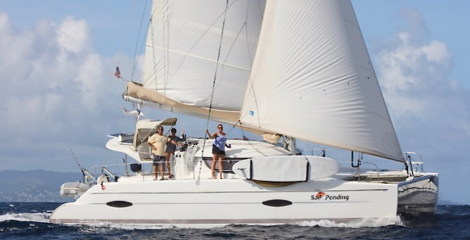 Sail Pendings explores the waters of the Virgin Islands. (Photo by Stormy Pirates Boat Charters)